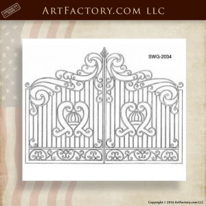 Wrought Iron Arched Gate