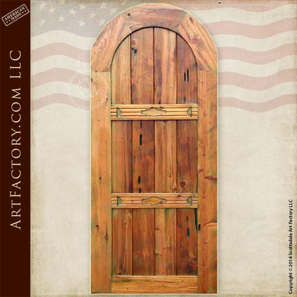 full arched wooden door