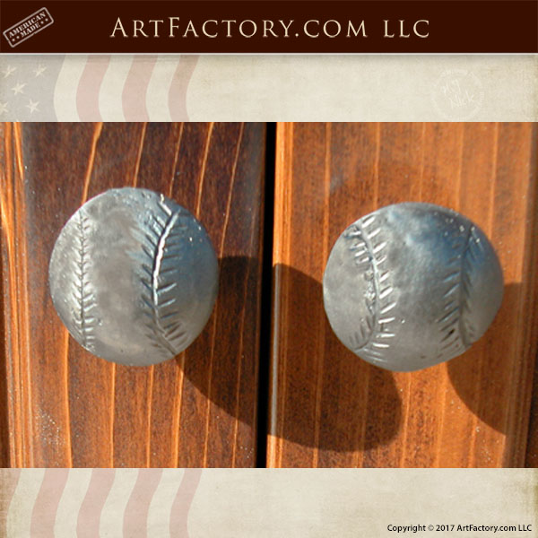 Custom Baseball Cabinet Pulls: Hand Forged Sports Themed Hardware U2013 HH502