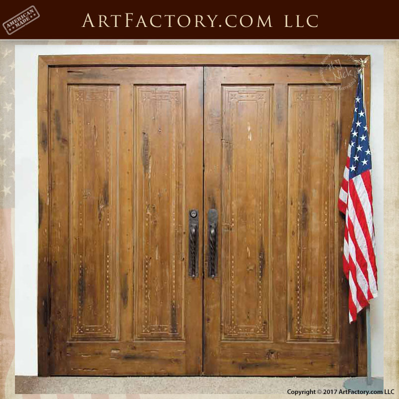 colonial carved double doors