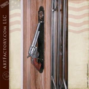 Colt 45 Door Pull Custom John Wayne Hand Carved Door