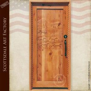 custom horse theme door