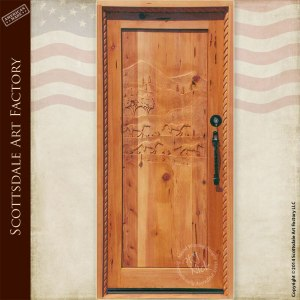 custom horse theme door