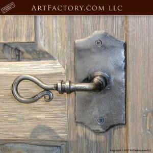 decorative iron lever pull