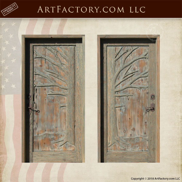 Hatley Castle Gardens inspired door