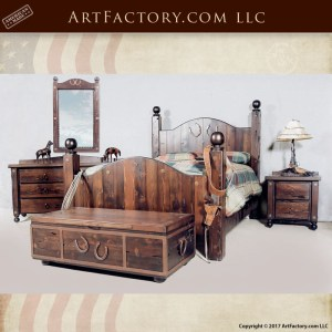 horseshoe western bedroom set