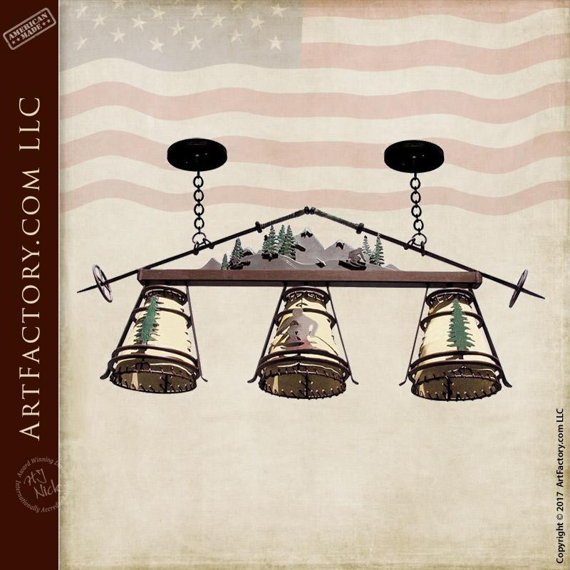 ski lodge theme chandelier custom wrought iron lighting