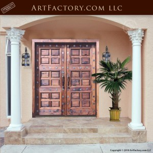raised panel wooden double doors