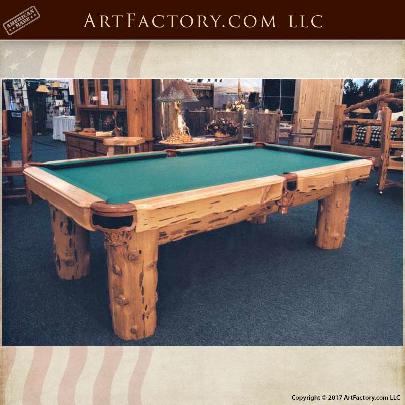rustic lodge pool table