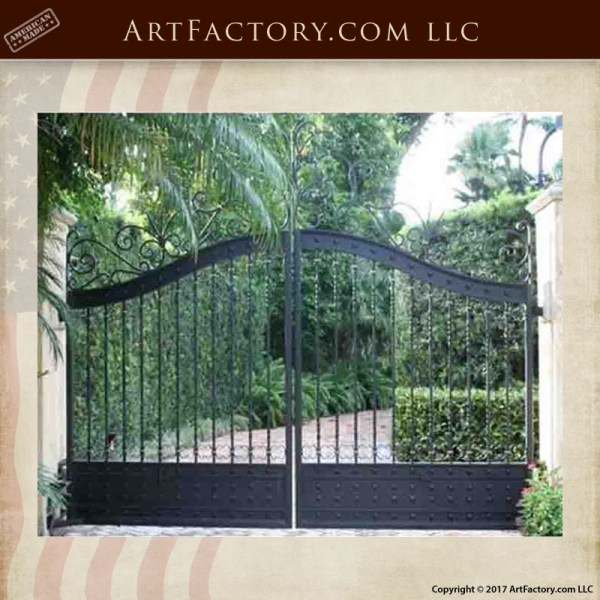 solid iron driveway gate