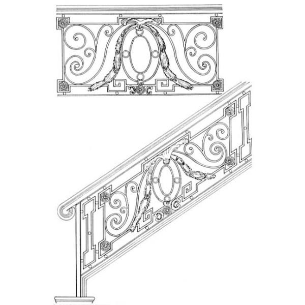 Stair Rail Design Drawings