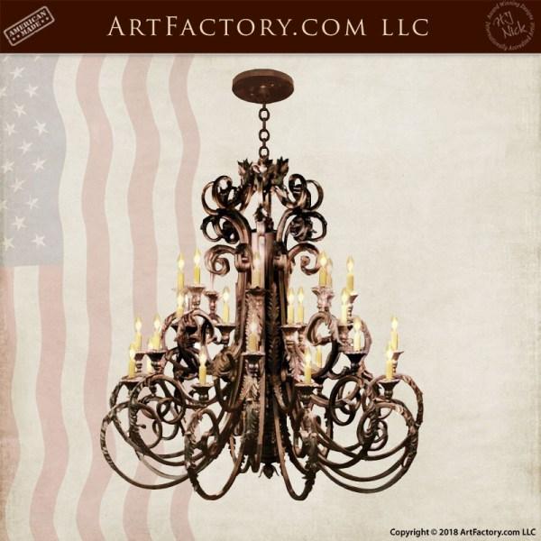 custom iron candle chandelier