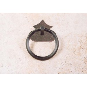 Ring Door Pull Wrought Iron Chateau de Malbrouck