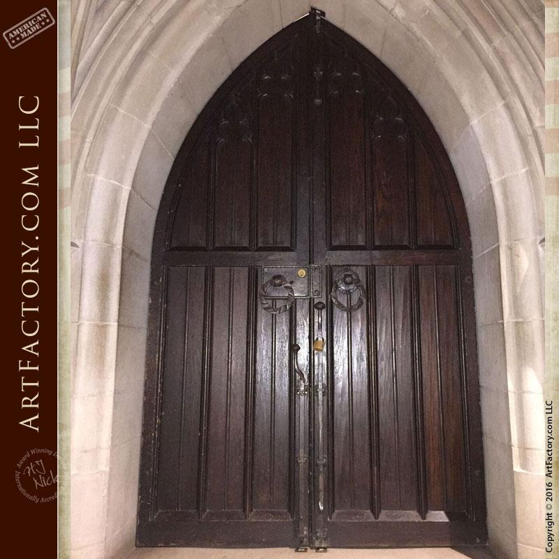 custom cathedral entrance door
