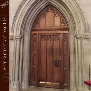 arched wood cathedral style door