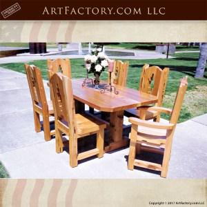 Southwestern style dining table