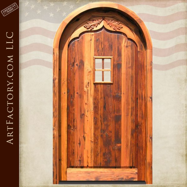 hand carved wood French style door