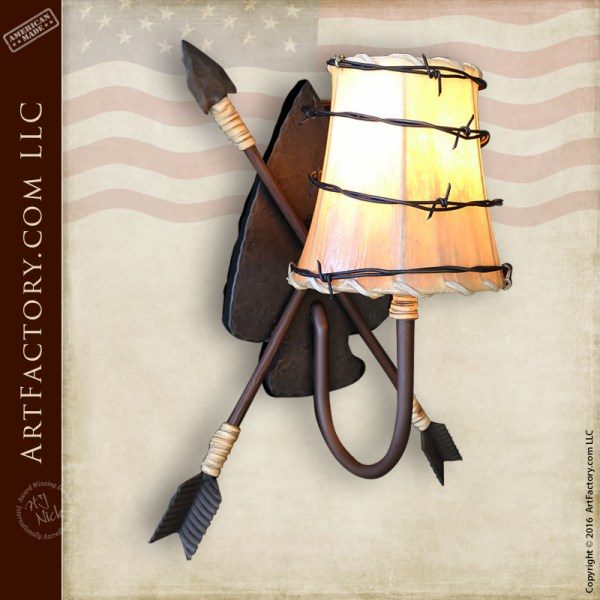 Crossed Arrow Light Sconce
