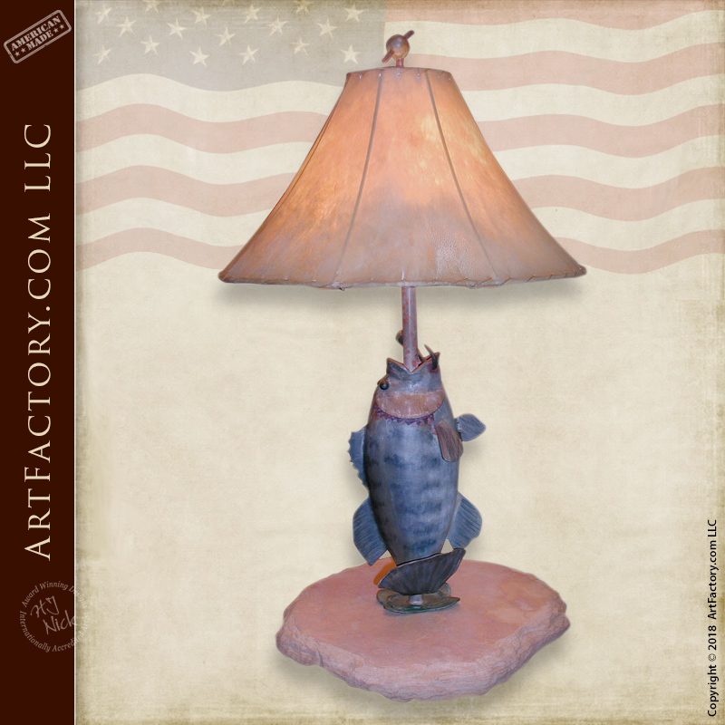 Fine Art Bass Iron Table Lamp