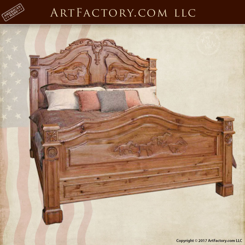 french-equestrian-hand-carved-bed