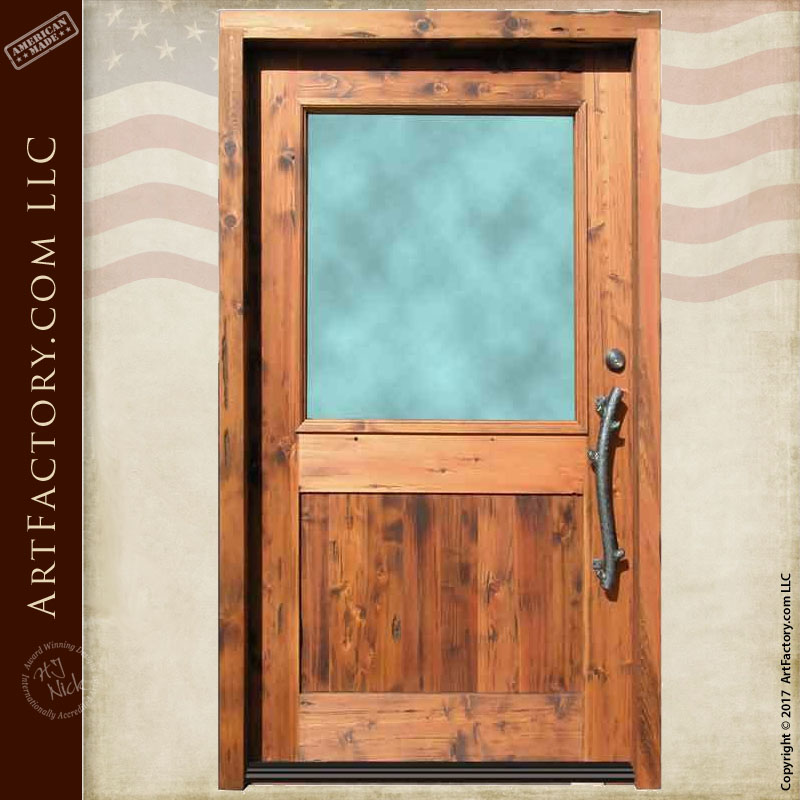 half lite wood door