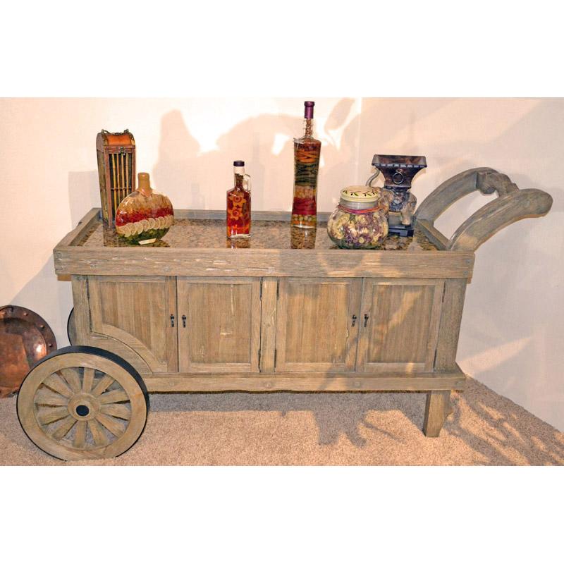 Wine Bar Cart Castle of Rumbeke 18th Cen Style