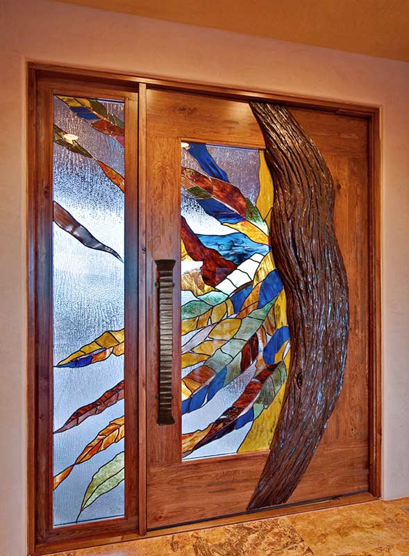 Solid wood and glass doors contemporary doors modern doors stained glass door planetlyrics Choice Image