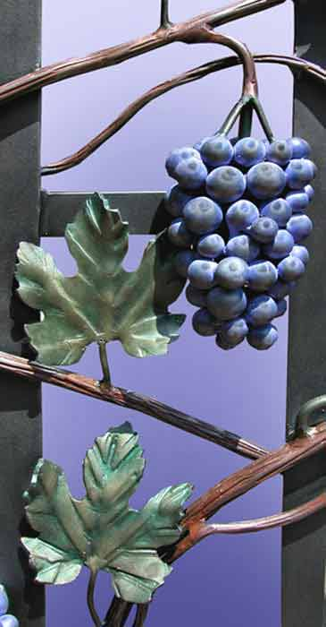 vintage kitchen knobs and pulls old fashioned faucets grapes wrought iron | arbor wine door grill ...