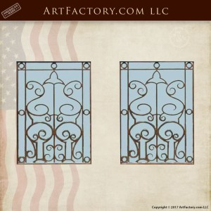 custom ornamental window grill