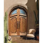custom hand carved castle doors