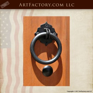 wrought iron gate ring pull