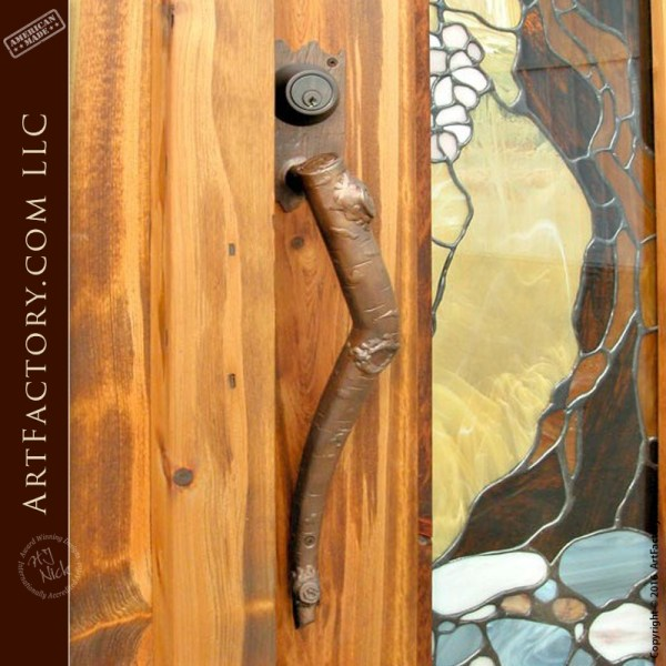 custom aspen branch door pull