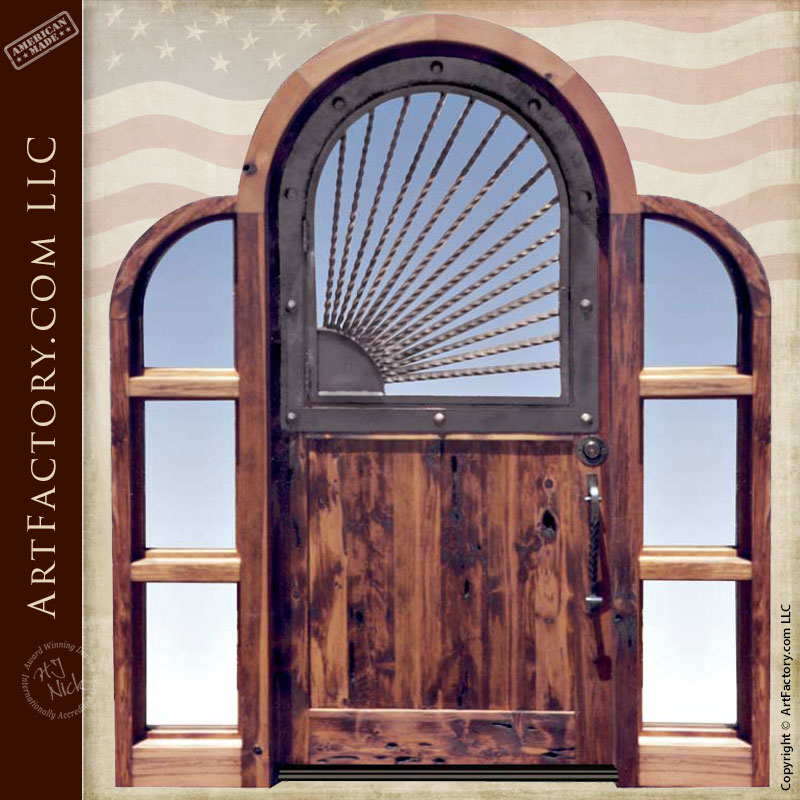 Custom Made Arch Door With Tri Arch Design