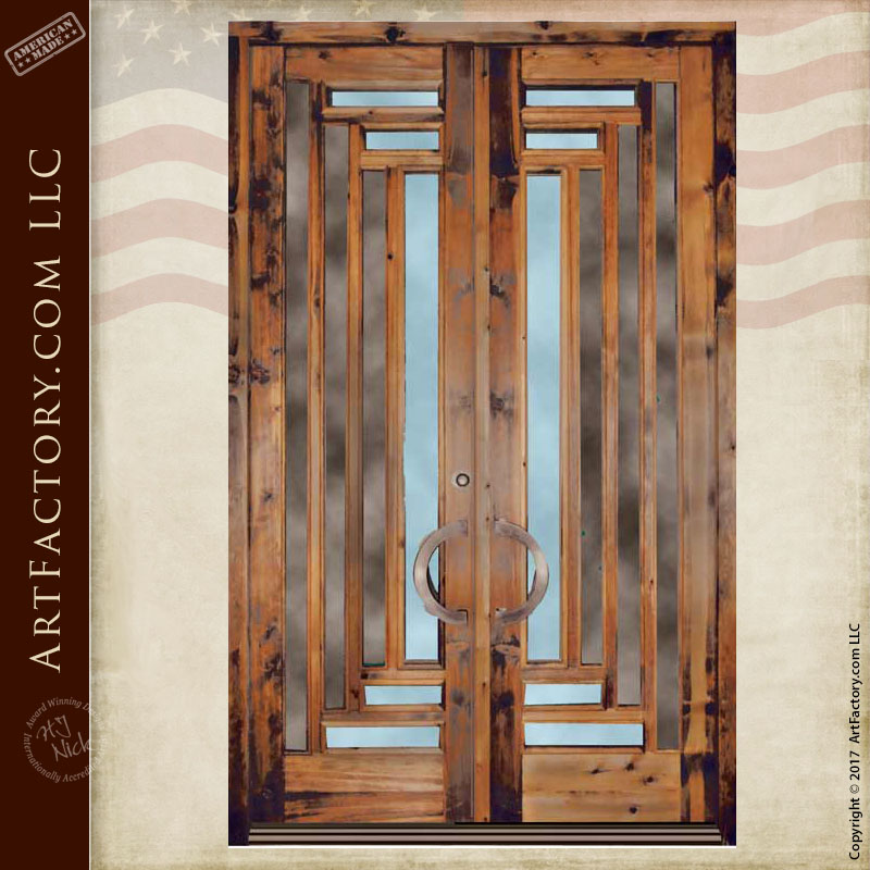 Craftsman style doors solid wood construction for Solid wood door construction