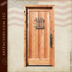 custom wooden speakeasy door