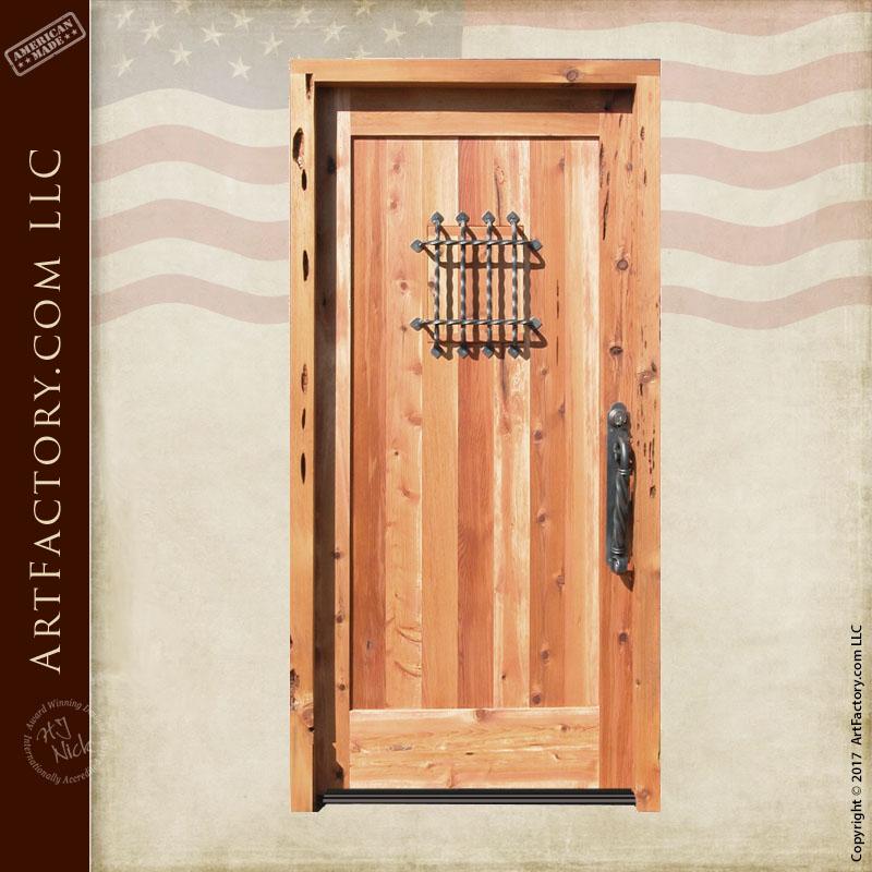 custom wooden speakeasy door