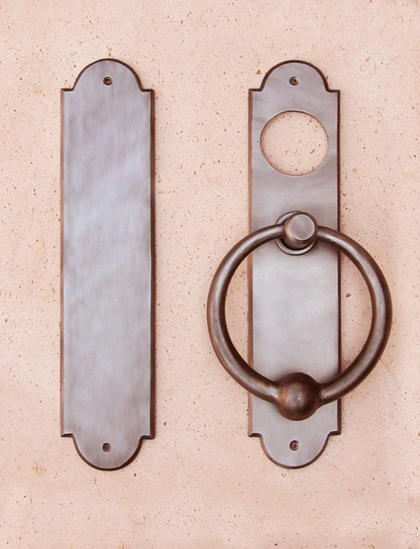 Iron Ring Pull With Backplate and Pushplate
