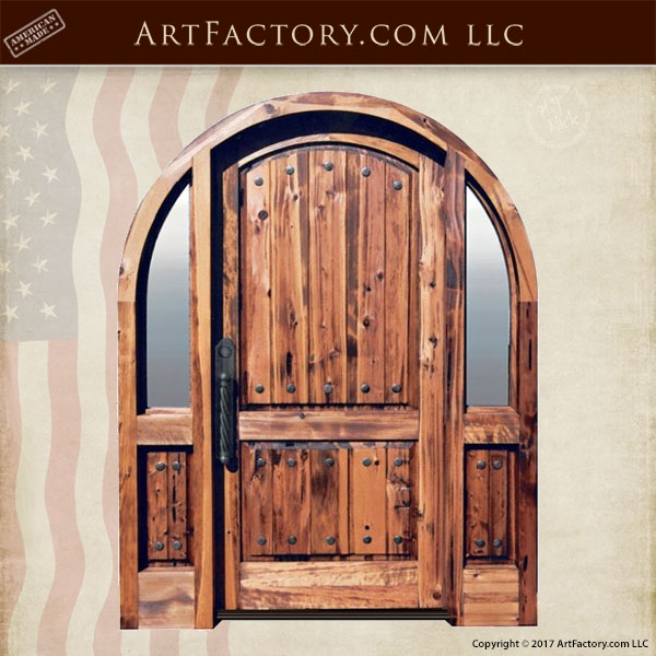 solid wood arched entry door