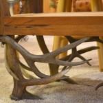 Antler Bench Hand Carved Natural Antler Bench
