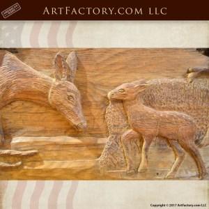 hand carved deer