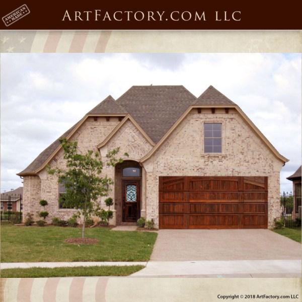 custom handcrafted wood garage door