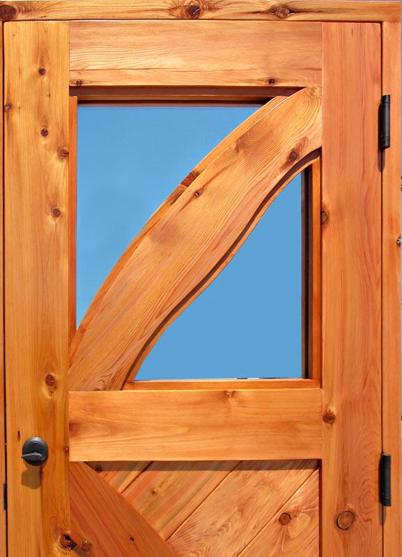Cross Buck Door  Custom Wood Doors for Cabins Lodges