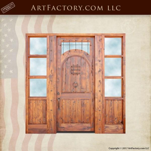custom handcrafted entrance door