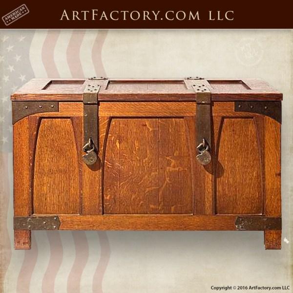 Custom Craftsman Storage Trunk - Mission Style Coffee Table