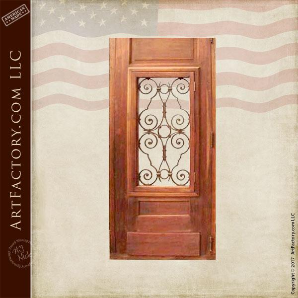 custom hand carved entrance door