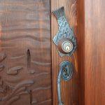 fishing theme cabin door