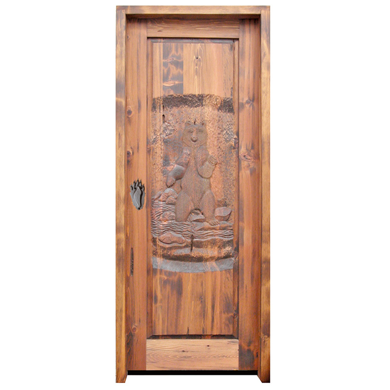 personalized hand carved door
