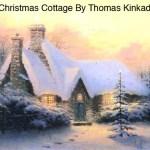 Christmas tree cottage door