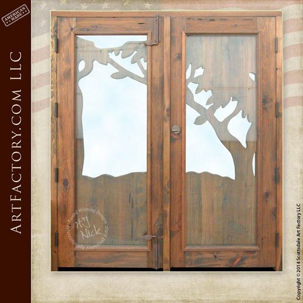 hand carved art nouveau door