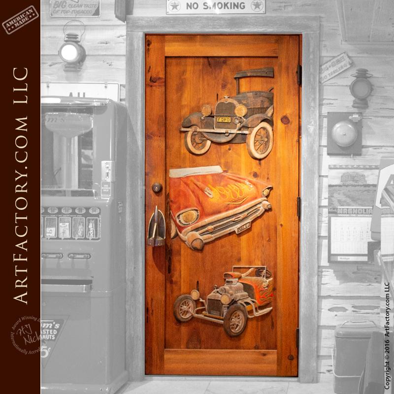 Classic Car Carved Door